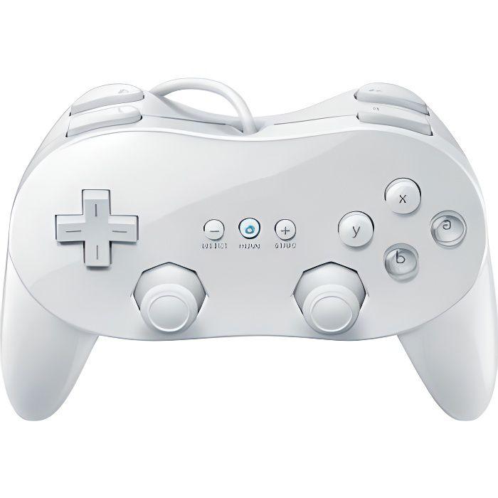 MANETTE JEUX VIDÉO Manette Classique Pro Blanc Compatible Wii