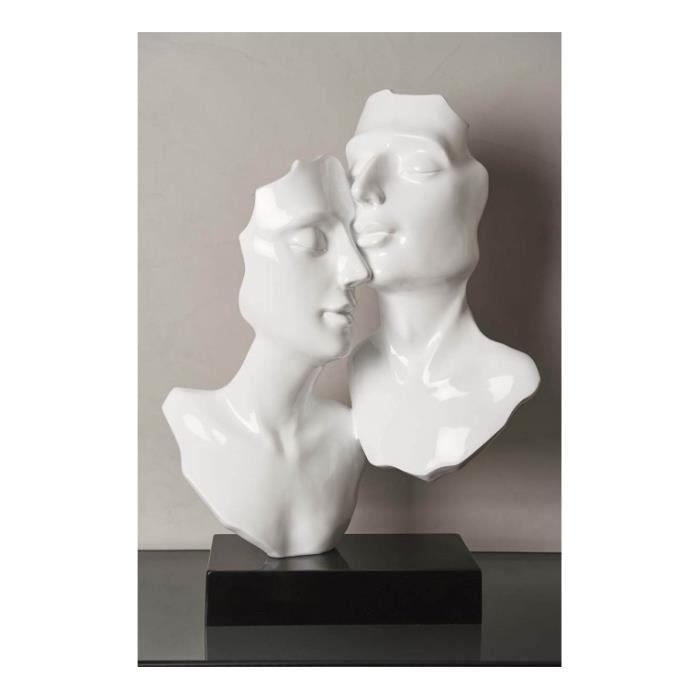 Socadis Statue Visage Gris Perle Pose Estilo