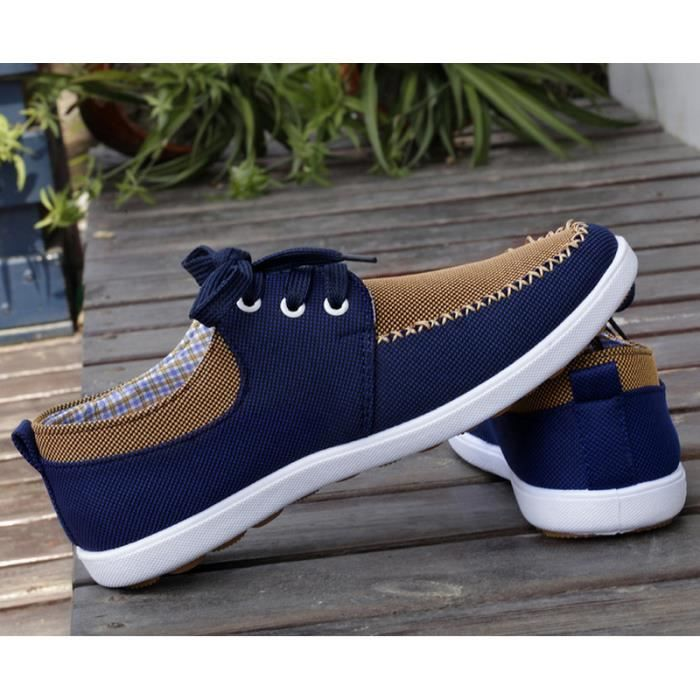 (dark blue)Chaussures de toile chaussures mode casual hommes.