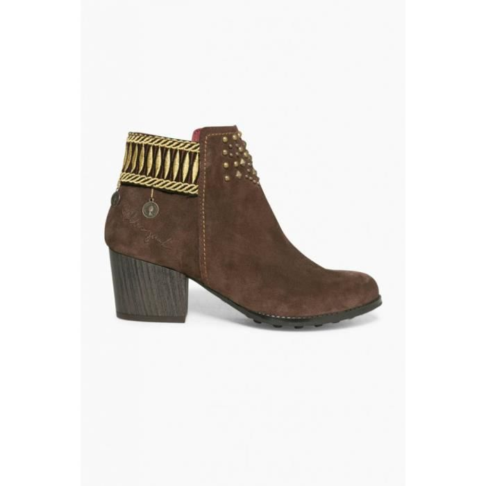 Desigual Bottines Country Exotic Chocolat Marron 17WSALA5 smpL1