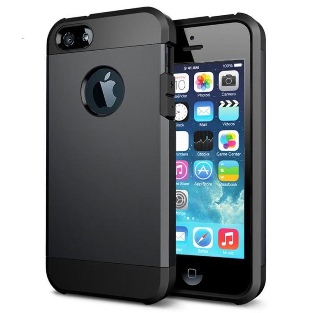 coque etui antichoc armor pour iphone 5c noir cous
