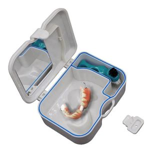 BAIN DE BOUCHE Cas de boîte de rangement de fausse dent de dentie