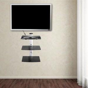 FIXATION - SUPPORT TV Tablette mural pour support TV 3 Étagère accessoir