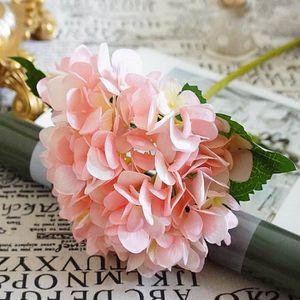 Version Rose , Fleurs Artificielles Pas Cher Soie Hortensia