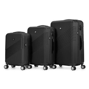 SET DE VALISES Set de 3 valises ABS trolleys Air V Adiago - Noir