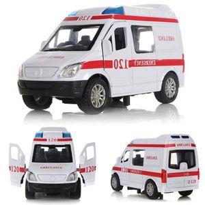 KIT MODÉLISME 1:32 Métal Véhicule Ambulance Modèle Voiture Jouet