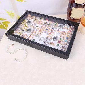 BOITE A BIJOUX Bague@Bijoux anneaux présentoir velours 100 slot c