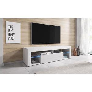 MEUBLE TV Titan Meuble TV contemporain décor - Blanc /Façade