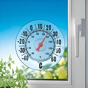 THERMOMÈTRE - BAROMÈTRE Thermomètre de fenêtre extérieur ventouse