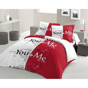 housse de couette imprim e rouge achat vente housse de. Black Bedroom Furniture Sets. Home Design Ideas