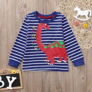 Enfant B/éb/é Ensembles de Pyjama Fille Gar/çon T-Shirt Tops Cartoon Dinosaure Lettre Imprim/é Sweatshirt Manches Longues et Pantalon /à Deux Pi/èces Set Sleepwear Chemises de Nuit Bas Tops Pullover