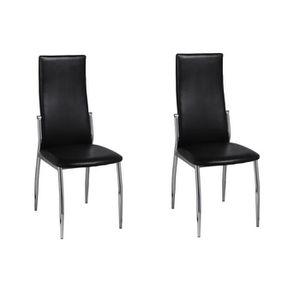 CHAISE Lot de 2 Chaise de salle à manger 2 pcs Chaises Sc