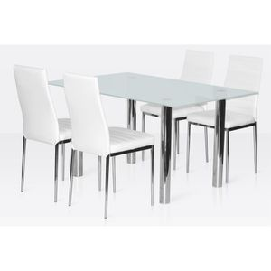 table verre 4 chaises