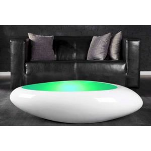 basse laqué II lumineu… blanc Table Galet Achat design rhQtCsdx