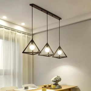 LUSTRE ET SUSPENSION STOEX® Lustre Suspension Industrielle Cage 3 Lampe