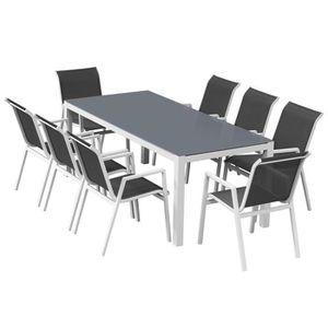 Ensemble table et chaise de jardin Salon de jardin aluminium Rio