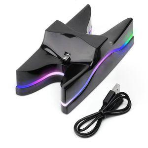 AUTRE PERIPHERIQUE USB  PS4 Poignée Chargeur à deux places Lumières coloré