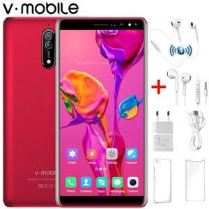 SMARTPHONE Smartphone 4G Débloqué Plein écran HD Rouge Quad C