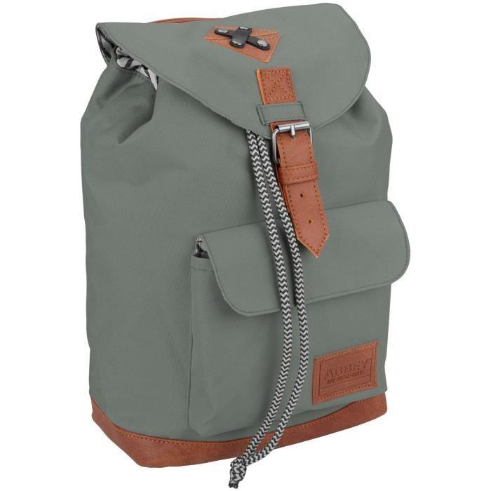 ABBEY Sac à dos du quotidien - Polyester 300T - Une poignée sur le dessus - Dim : 20 x 13 x 29 cm - Gris