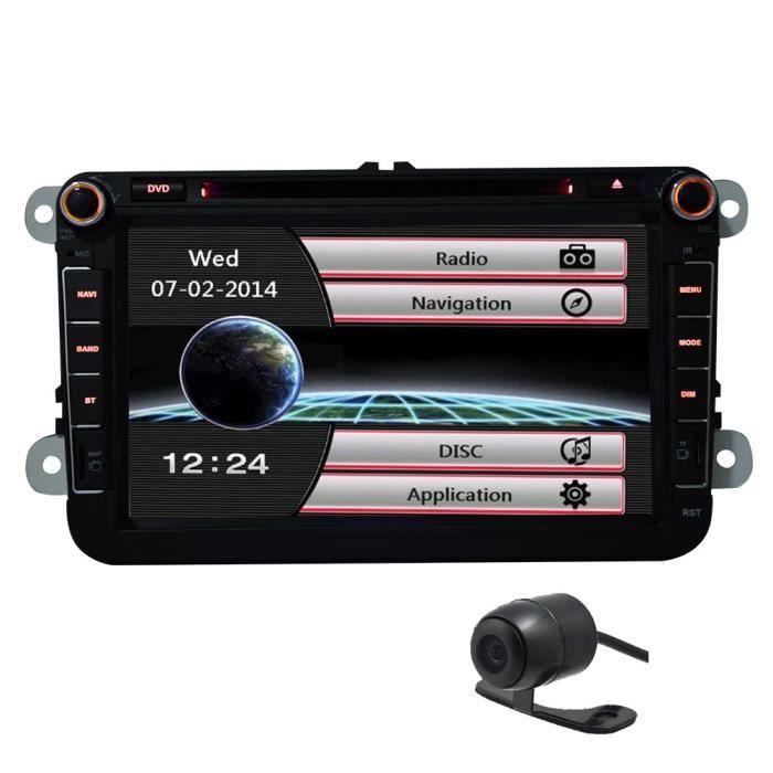 Eincar 8 pouces WinCE 6.0 système double Din HD à écran tactile Unité principale pour VW Golf Jetta Passat Polo En Dash 2DIN gps