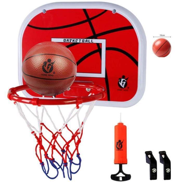Jetcco Panier Basketball Enfant avec la Boule , Mini Jouets de Sport d'intérieur pour Bureau Chambre(Ball*1 + Inflator*1 + Hook*1 pa