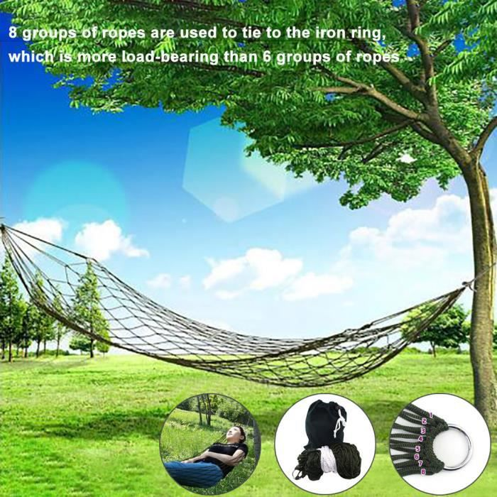Tissu en coton Nylon-hamac Air Chair Hanging Swinging Camping Outdoor Security YIN200508008_ion