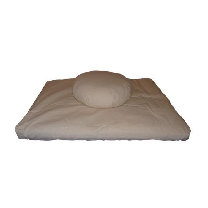 Set Zafu + Zabuton confort plus Naturel/ivoire