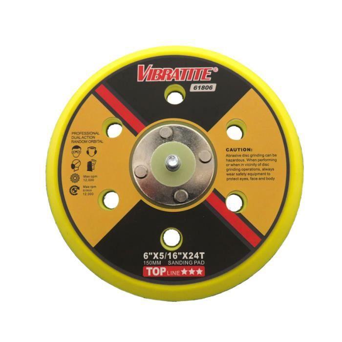 1 disque pneumatique Pc 6 trous auto-adhésif pouces 150mm plateau de meulage pour le SKATEBOARD - SHORTBOARD - LONGBOARD - PACK
