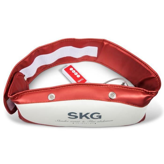 Skg masseur machine minceur graisse brûlant corps formant la ceinture vibration massage équipement m - Modèle: Rouge -