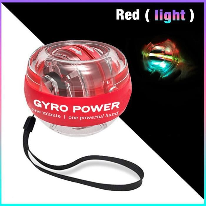 Accessoires Fitness - Musculation,LED exercice gyroscope mâchoire puissance poignet balle gyroscope force main muscle - Type Marron