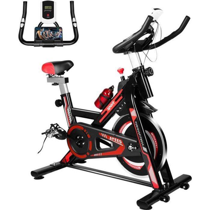 Yeehup Vélo d'appartement Cardio Vélo Biking - Indoor Velo biking spinning interieur avec l'Ecran, Niveaux de résistance réglables