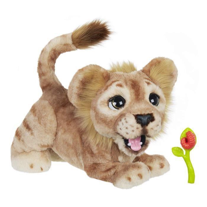 Jouet Interactif en Peluche Disney Le Roi Lion Mighty Roar Simba - Animé par Furreal, 100 Combinaisons Sonores et Mouvements, 4 Ans