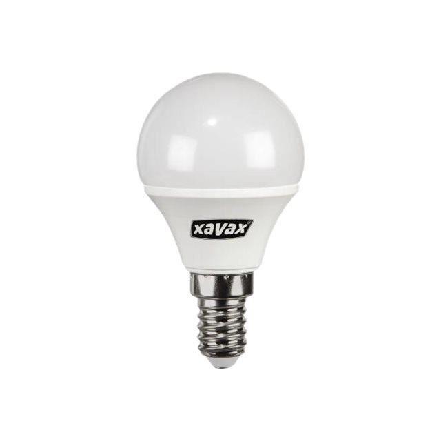 Xavax Ampoule LED forme : goutte E14 3.4 W lumière blanche chaude