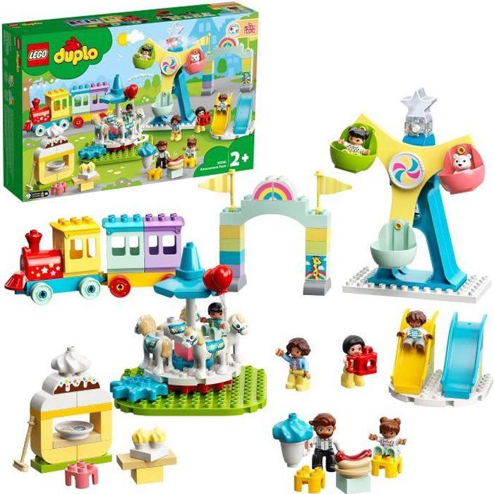 LEGO® 10956 DUPLO® Town Le parc d'attractions Jouet Enfant 2+ ans avec Train, Carrousel et Grande Roue