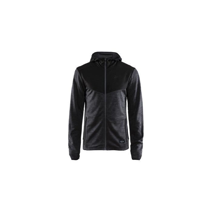 Veste Running CRAFT Homme Breakaway Jersey Hood Jacket Noir AH 2018