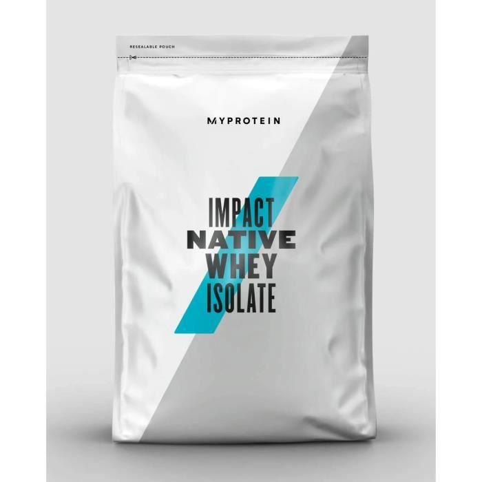 MYPROTEIN Impact Native Whey Isolate 1 kg Natural chocolate complément alimentaire Protéines en poudre de haute qualité