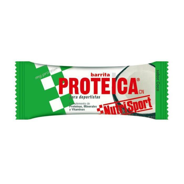 Barre NutriSport PROTEICA saveur coco (24 unités)