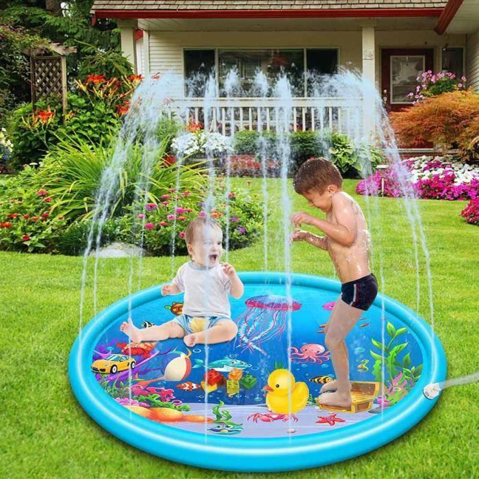 Tapis de Jeu de Jet et d'éclaboussure eau, Piscine pour bébé en Plein air-Les Enfants en Bas âge Été Partie de Natation l'eau