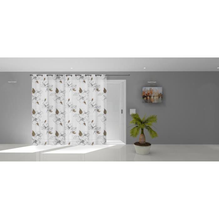 SOLEIL D'OCRE Voilage à oeillets Lucile - 280 x 250 cm - Blanc