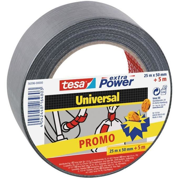 Promo extra power gris 25mx50mm +5m gratuit