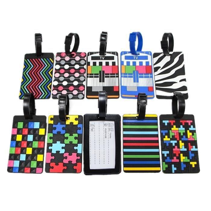 Valise en plastique pour /étiquette didentification bagage Lot de 10 porte-/étiquette rouge//blanc