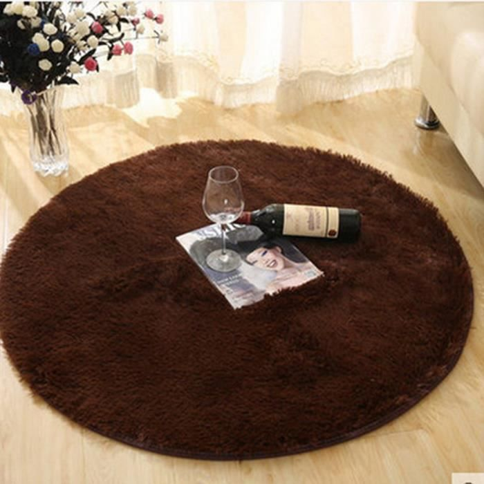 tapis de salon shaggy caf cm tapis de sol achat vente tapis cdiscount. Black Bedroom Furniture Sets. Home Design Ideas