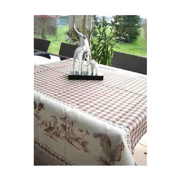 Nappe basse cour beige 2m achat vente nappe de table for Nappe pour table basse