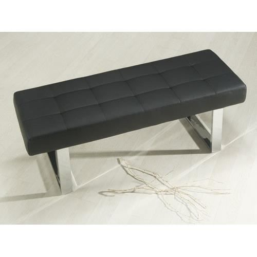 banc sangara en simili cuir noir massivum achat vente banc pu cdiscount. Black Bedroom Furniture Sets. Home Design Ideas