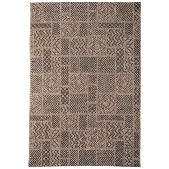 tapis d 39 ext rieur canvas marron 200x290 cm tapis outdoor pour balcon terrasse et jardin. Black Bedroom Furniture Sets. Home Design Ideas