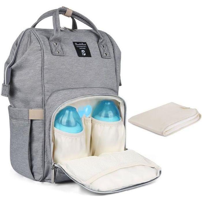 Nouveau mod/èle multifonction grand capacit/é avec deux sangles sac /à dos /à langer sac /à dos rangers pour maman b/éb/é poussette b/éb/é voyage promenade Bleu