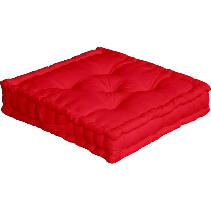 coussin de sol 50x50 cm rouge achat vente coussin. Black Bedroom Furniture Sets. Home Design Ideas