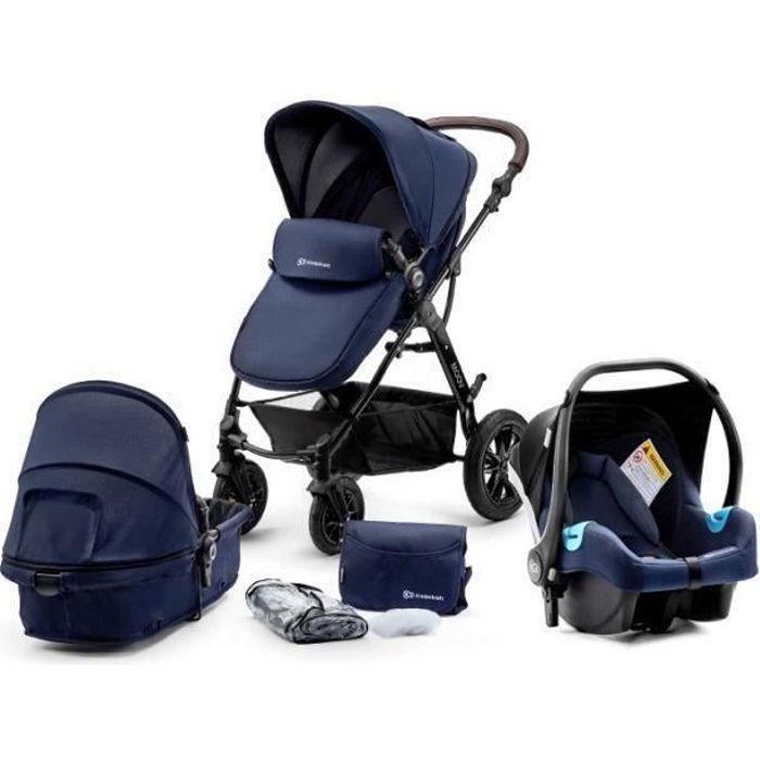 19 bleu marine /& bleu clair si/ège auto inclus les adaptateurs, habillage pluie, moustiquaire, roues pivotantes 62 couleurs Chilly Kids Matrix II 3 en 1 Poussette combin/ée