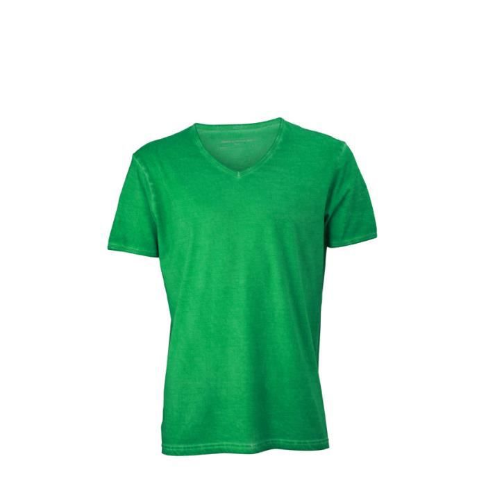 tee shirt tendance avec col v vert achat vente t shirt cadeaux de no l. Black Bedroom Furniture Sets. Home Design Ideas