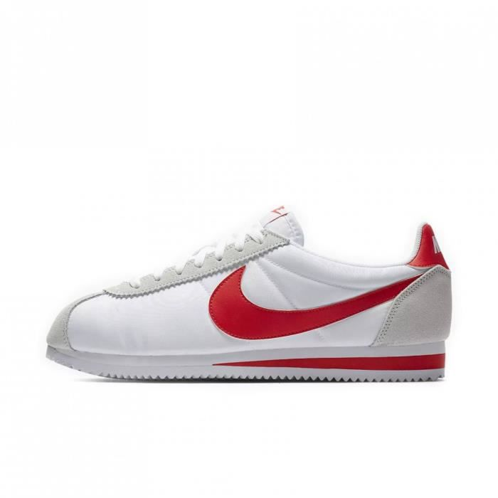 wholesale sales shopping good looking Basket Nike Classic Cortez Nylon - 807472-101 Blanc - Achat ...